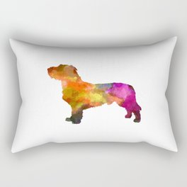 Fawn Brittany Basset in watercolor Rectangular Pillow
