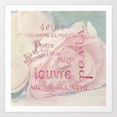 Paris typography Art Print