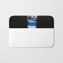 Israeli Flag on a Raised Clenched Fist Bath Mat
