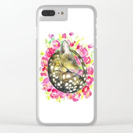 Sleepy baby quoll Clear iPhone Case