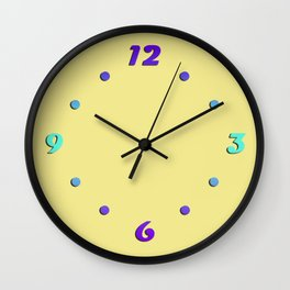 Palette . Warm yellow Wall Clock