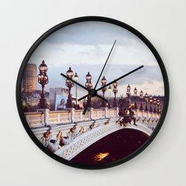 Pont Alexandre III Paris. Wall Clock