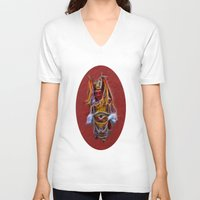 chinese V-neck T-shirts featuring Chinese Theatre by Lucia