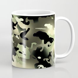Camouflage: Black & Green Coffee Mug