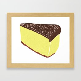 Yellow Cheesecake with Chocolate Frosting Framed Art Print