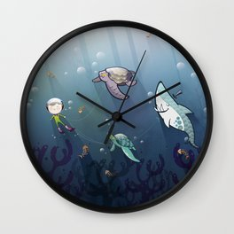 Looking for new friends Wall Clock