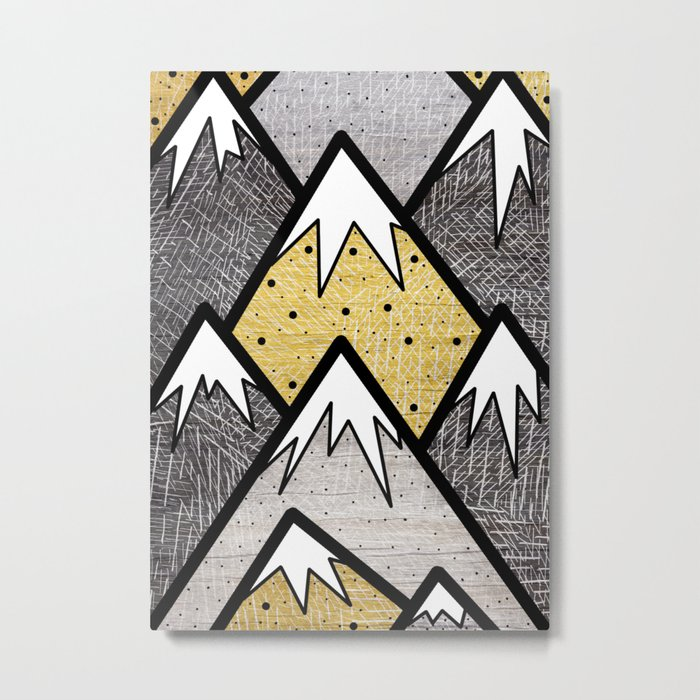 The Gold and Silver Hills Metal Print