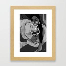 cheers black and white Framed Art Print