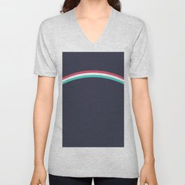 Italo Retro Rainbow Unisex V-Neck