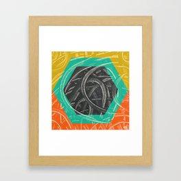 Junction - color hexagon Framed Art Print