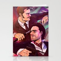 johnlock Stationery Cards featuring Watson and Holmes by Krusca