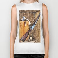 winchester Biker Tanks featuring Winchester Rifle by Captive Images Photography