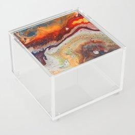 Fiery closeup Acrylic Box