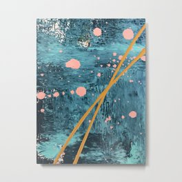 Poseidon [2]: a bright, minimal abstract in blues, pink, orange, and white Metal Print