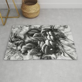 Rope knot with smoke effect Rug