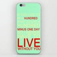 quotes iPhone & iPod Skins featuring quotes by kawaiicookie