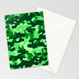 Camouflage (Green) Stationery Cards