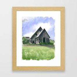Blowing Rock Church Framed Art Print