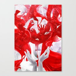 Hands of fate Canvas Print