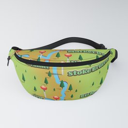 Grand Union Canal Map Fanny Pack