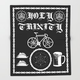 Bikes, Tacos, Beer! Throw Blanket