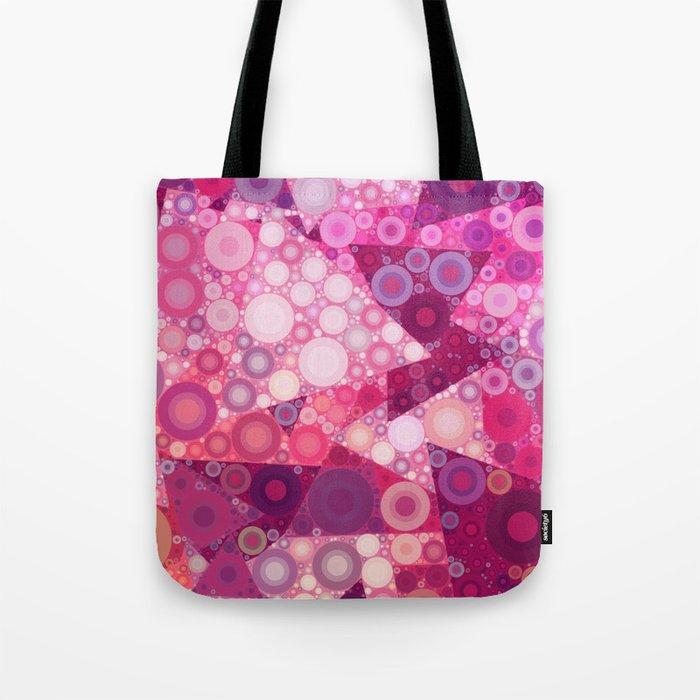 Pink Sherbet Bubbles Tote Bag