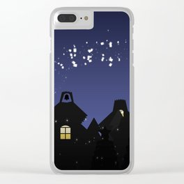 Dropping care Clear iPhone Case