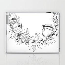 Chickadee a top Botanical Wreath Laptop & iPad Skin
