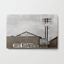 Warehouse Graffiti - The Southern Cross Metal Print