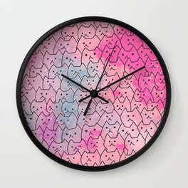 cats new colour 626 Wall Clock