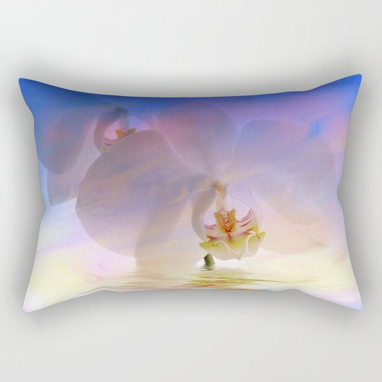 Orchid in a bath 1 - Flower and Flowers on #Society6 Rectangular Pillow