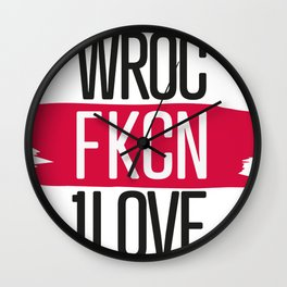 #aFKCNoriginal Poland Wroc1love // Wroczlaw Wall Clock