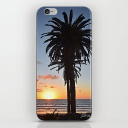 Southern California Sunset Palm Tree iPhone Skin