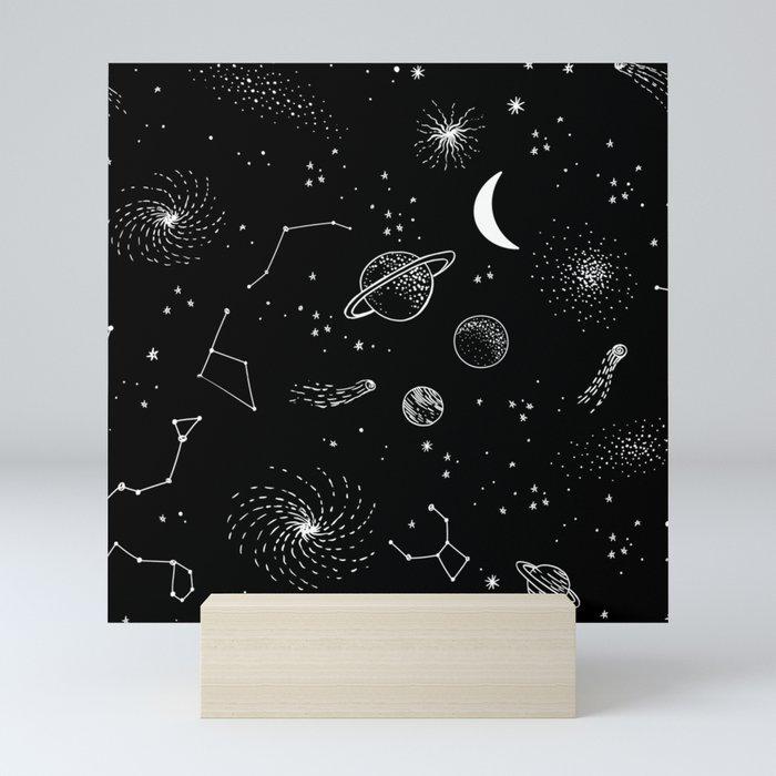 galactic pattern Mini Art Print