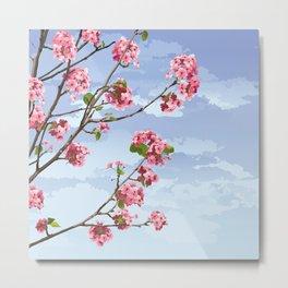 Pink Cherry Blossoms Sakura Metal Print
