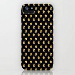 Chic Glam Gold and Black Stars iPhone Case