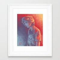 nico di angelo Framed Art Prints featuring Nico by Monsie