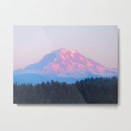 Mount Rainer Alpenglow Metal Print
