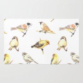 Tit birds pattern Rug