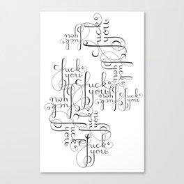 Cursive Cursing Canvas Print