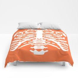 Human Rib Cage Pattern Orange 2 Comforters