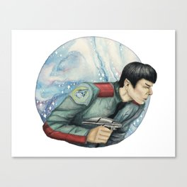 Captain, you almost make me believe in luck Canvas Print