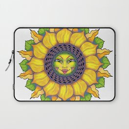 Sunflower Sunshine Girl by Amanda Martinson Laptop Sleeve
