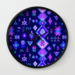 KILIM NO. 6 IN ELECTRIC ORCHID Wall Clock
