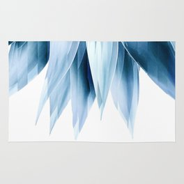 Agave geo fringe - blue Rug