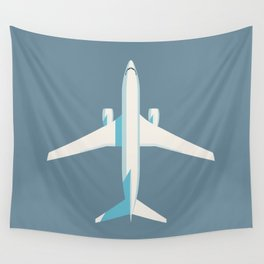 737 Passenger Jet Airliner Aircraft - Slate Wall Tapestry