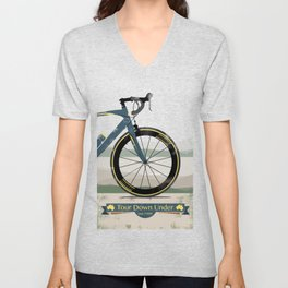 Tour Down Under Bike Race Unisex V-Neck