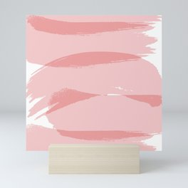 Abstract Mid Century Modern Sea Pink and Deep Blush 1699 Mini Art Print