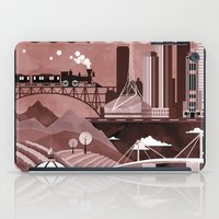 travel poster iPad Cases featuring Melbourne Travel Poster Illustration by ClaireIllustrations