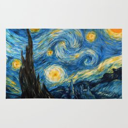 A Starry Night at Hogwarts Rug